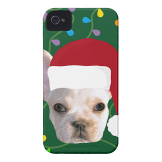 Holiday Frenchie iPhone 4 Case-Mate Cases
