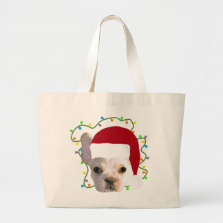 Holiday Frenchie Large Tote Bag