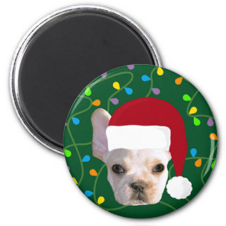 Holiday Frenchie Magnet