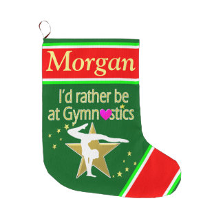 HOLIDAY FUN PERSONALIZED GYMNASTICS STOCKING