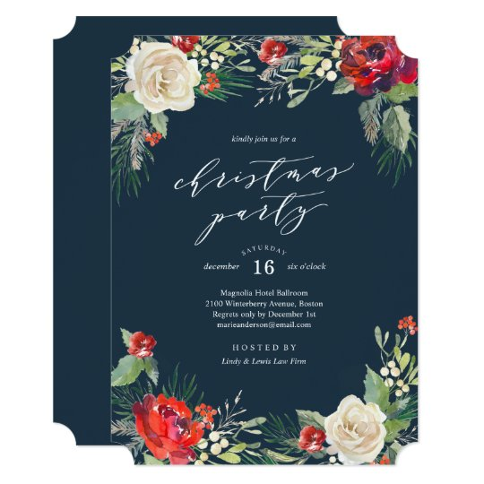 Holiday Garden Christmas Party Invitation