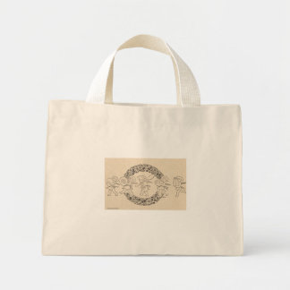 Holiday Garland and cherubs Mini Tote Bag