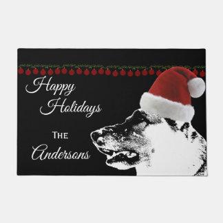 Holiday German Shepherd Dog Doormat