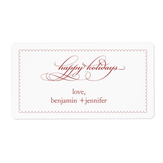 holiday gift label or tag shipping label