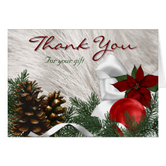 Holiday Gift Thank You Cards