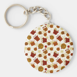 Holiday Gifts & Christmas Ornaments Basic Round Button Key Ring