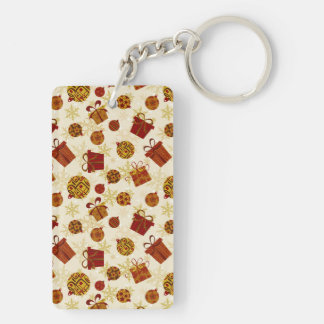 Holiday Gifts & Christmas Ornaments Double-Sided Rectangular Acrylic Key Ring
