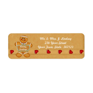Holiday Gingerbread Address Label