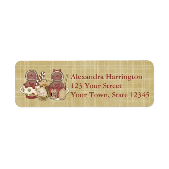 Holiday Gingerbread Cookies Return Address Label
