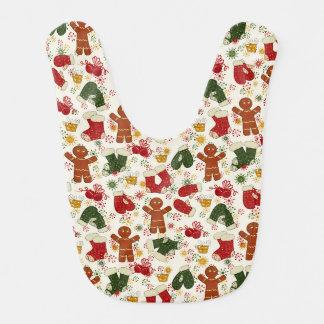 Holiday Gingerbread Pattern Bib