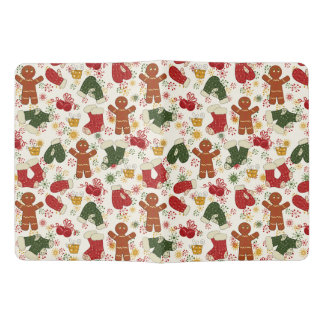 Holiday Gingerbread Pattern Extra Large Moleskine Notebook