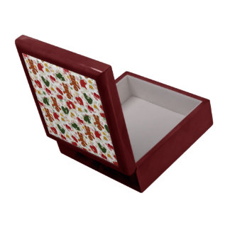 Holiday Gingerbread Pattern Gift Box