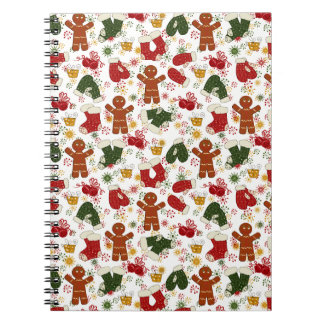 Holiday Gingerbread Pattern Notebooks