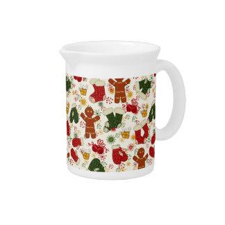 Holiday Gingerbread Pattern Pitcher