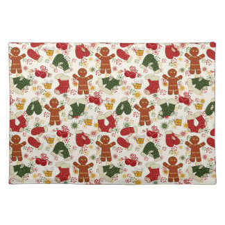 Holiday Gingerbread Pattern Placemat