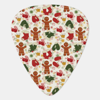 Holiday Gingerbread Pattern Plectrum