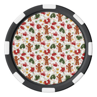 Holiday Gingerbread Pattern Poker Chips