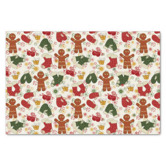 Holiday Gingerbread Pattern Tissue Paper