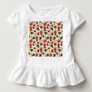 Holiday Gingerbread Pattern Toddler T-Shirt
