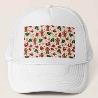 Holiday Gingerbread Pattern Trucker Hat