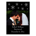 Holiday Glamour Black Wedding Thank You Card