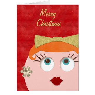Holiday Glamour Merry Christmas Hipster Retro Gal Card