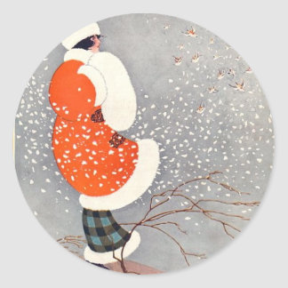 Holiday Glow Round Sticker