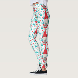 Holiday Gnome with gifts Leggings