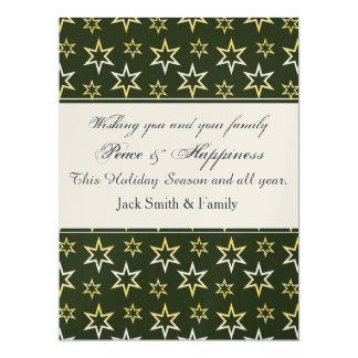 Holiday Gold Stars 17 Cm X 22 Cm Invitation Card