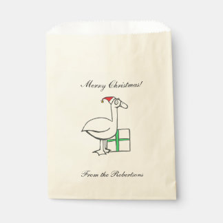 Holiday Goose Favor Bags