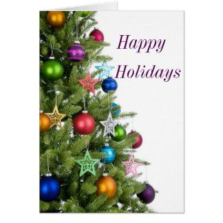 Holiday greeting Card Christmas tree