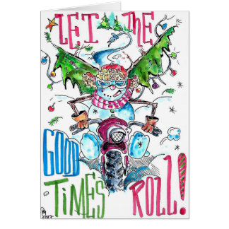 Holiday Greeting card for the motorcycle rider!