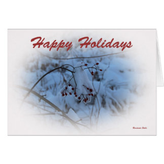 Holiday Greeting Card ~ Frozen Berries