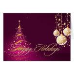 Holiday Greeting Cards, Christmas Tree+Ornaments Greeting Card