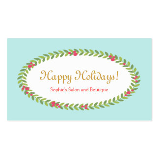 Holiday Greeting Insert Coupon Gift Card Business Card Template