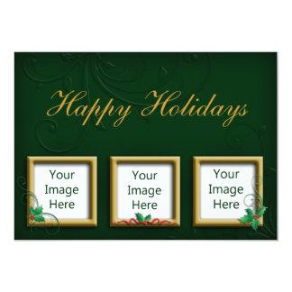 Holiday Greeting Photo Card 13 Cm X 18 Cm Invitation Card