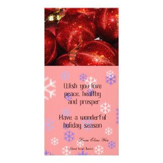 holiday greeting photo card photo card template