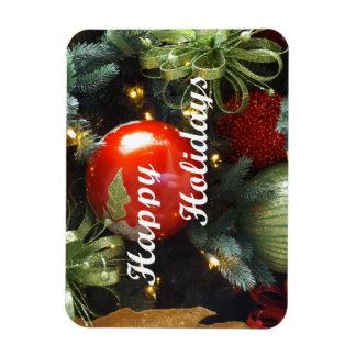 Holiday Greeting Rectangular Photo Magnet