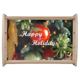 Holiday Greeting Serving Tray