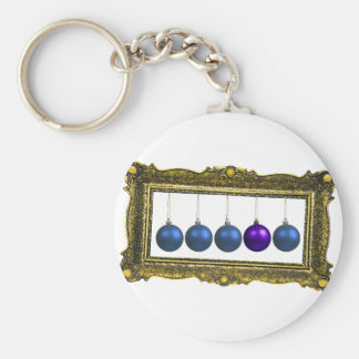 holiday greetings basic round button key ring
