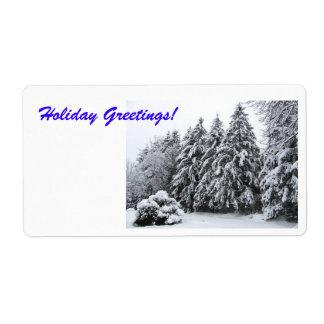 Holiday Greetings Envelope Seal Shipping Label