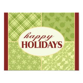 Holiday Greetings Flat Card 11 Cm X 14 Cm Invitation Card
