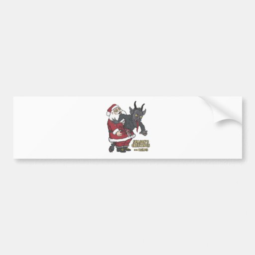 Holiday Greetings from Krampus (and Santa) Bumper Sticker