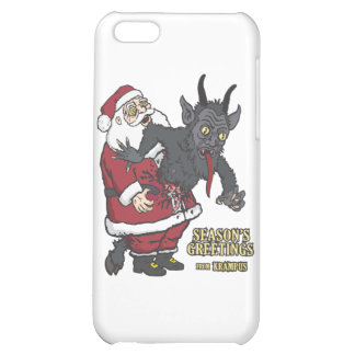Holiday Greetings from Krampus (and Santa) Case For iPhone 5C