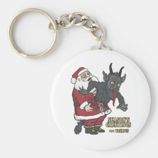 Holiday Greetings from Krampus (and Santa) Keychains