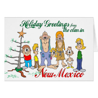 Holiday Greetings from New Mexico Greeting Card
