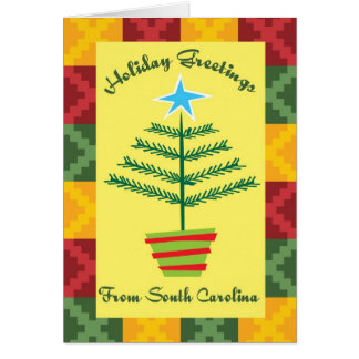 Holiday Greetings From South Carolina Card