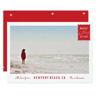 Holiday Greetings Photo Card 13 Cm X 18 Cm Invitation Card