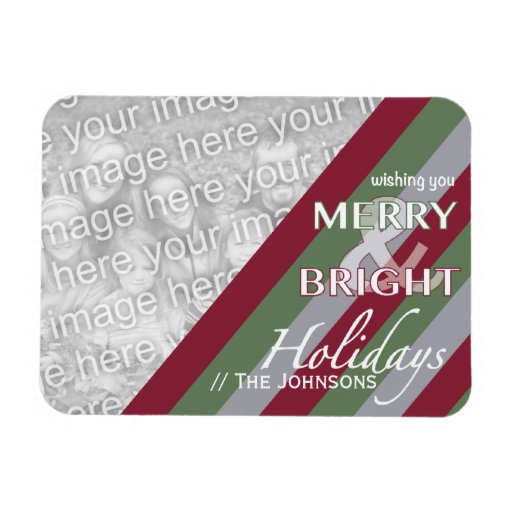 Holiday Greetings Template Photo Magnet