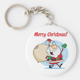 Holiday Greetings With Santa Claus Key Chains